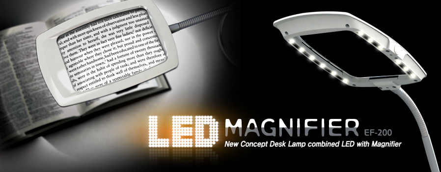 EF-200 LED Magnifier desk lamp